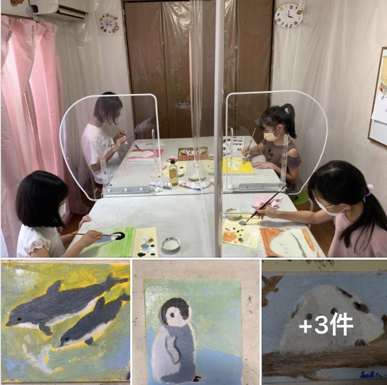夏休み短期講座「油絵を描こう!」