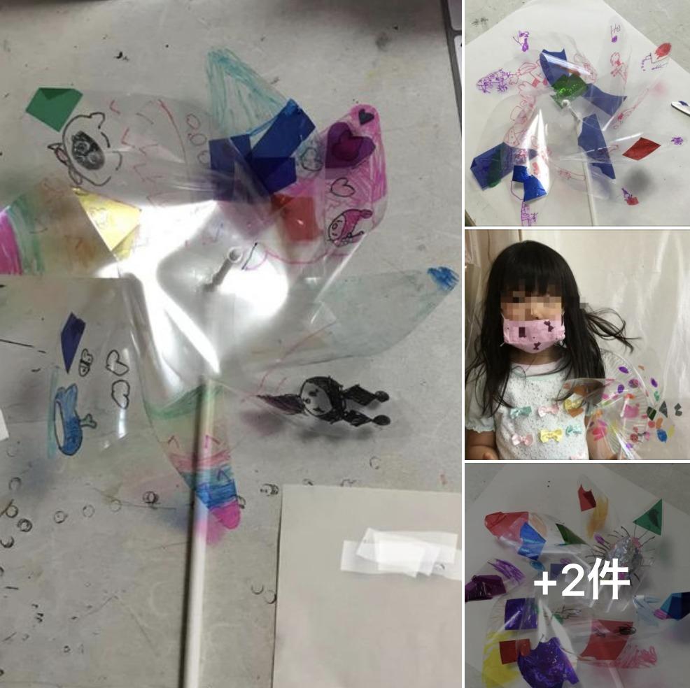 幼児クラス 風車作り