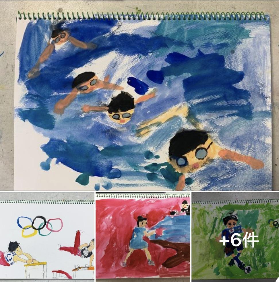 絵画クラス オリンピック選手を描こう