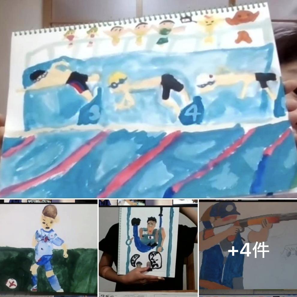 絵画オンラインクラス9月