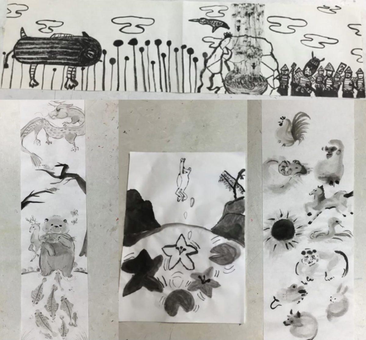 絵画クラス「水墨画を描こう!」