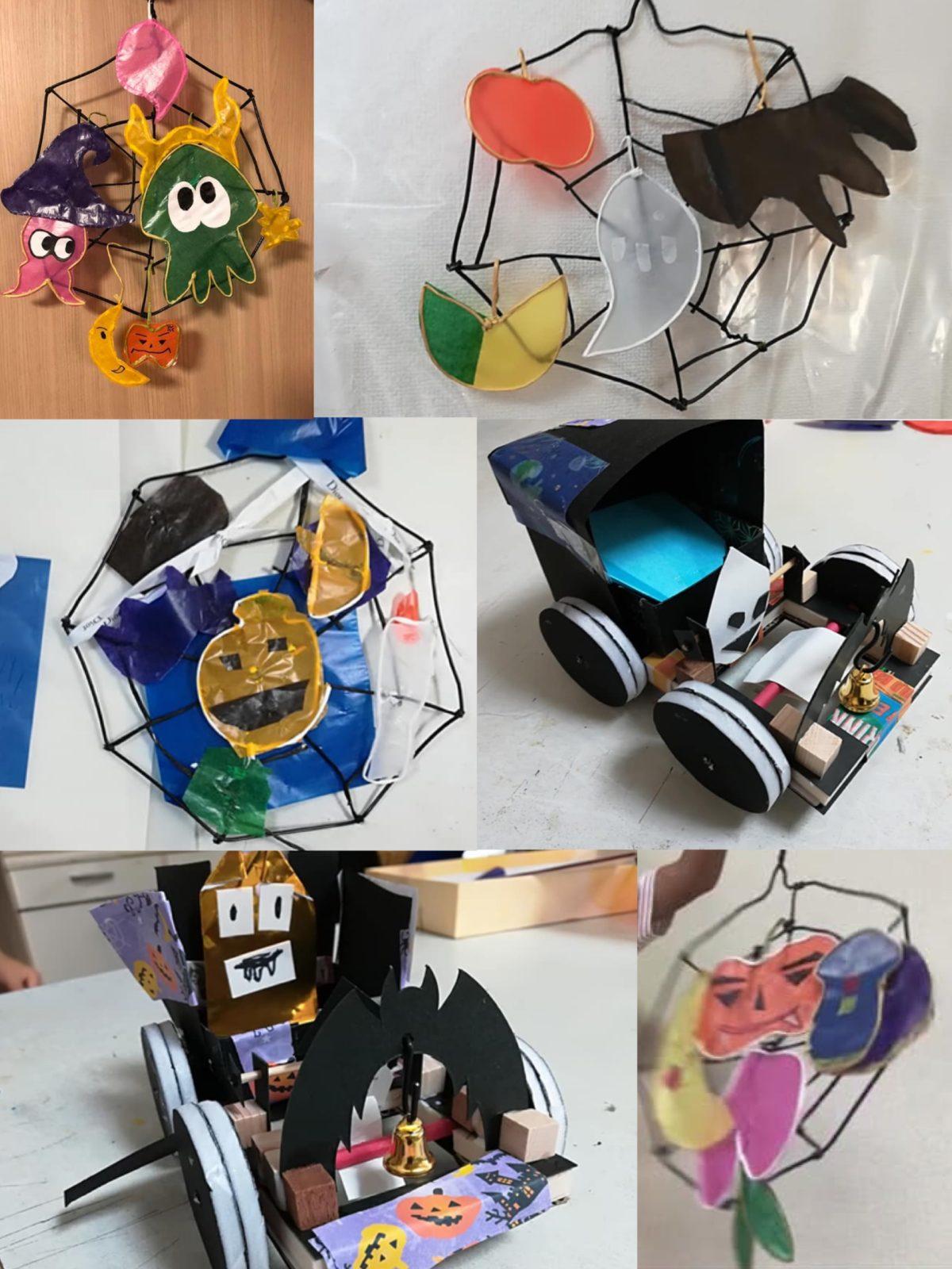 立体造形クラス・ハロウィンの制作