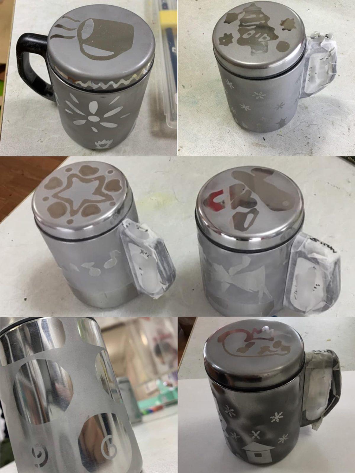 サンドブラストマグカップ
